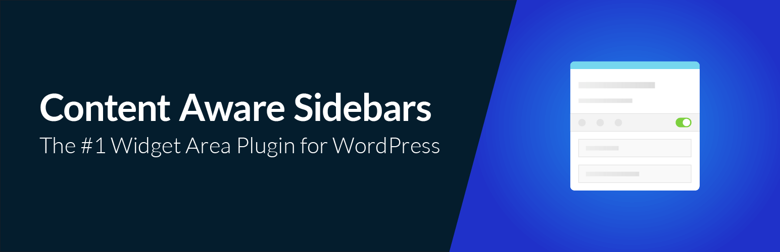 The #1 Widget Area Plugin for WordPress