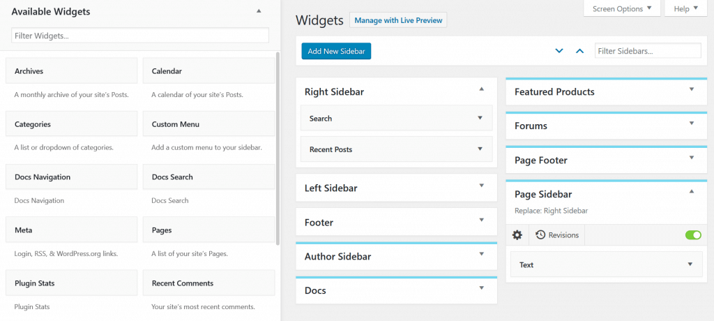 Content Aware Sidebars makes it easy to manage WordPress widgets