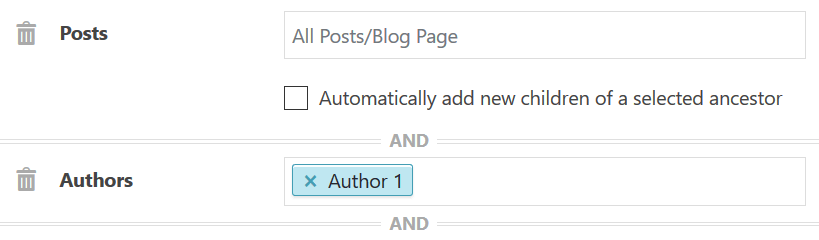 Condition for posts by author