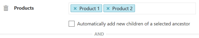 Product Post Type Condition