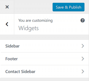 Manage custom sidebars in the Customizer