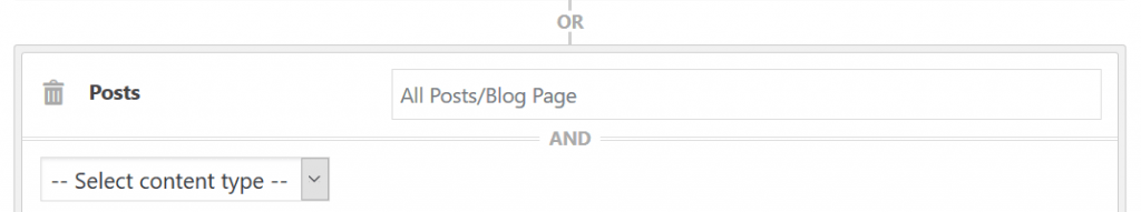Screenshot of hiding wordpress sidebar on posts