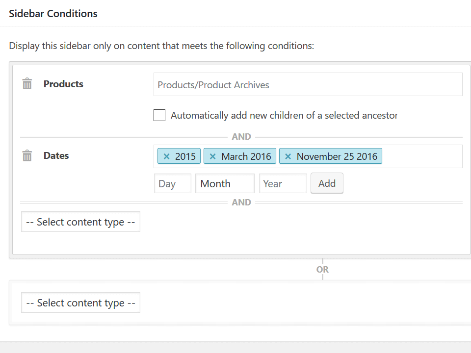 Screenshot of WooCommerce Release Date Sidebar
